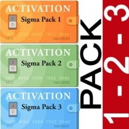 Código de Activación Triple Pack para Sigma