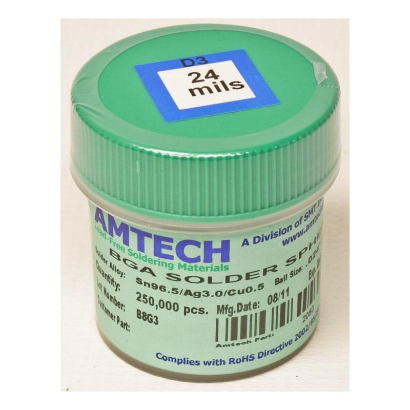 Esferas de 0.76mm Leadfree AMTECH (250k