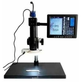 Microscopio Digital 2MP con pantalla, lampara y base metalica grande