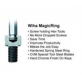 MagicRing® Screw Holding Ball End Hex L-Key Metric 9 Piece Set
