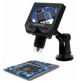 "Microscopio Digital 600x 3.6MP Portátil Con pantalla de 4.3"" HD"