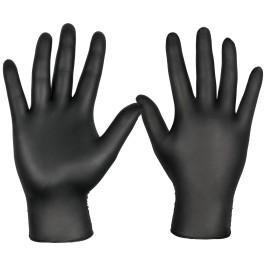 Guantes de nitrilo negros desechables (grandes)