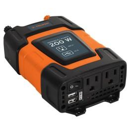 Inversor de  corriente con USB de 200W