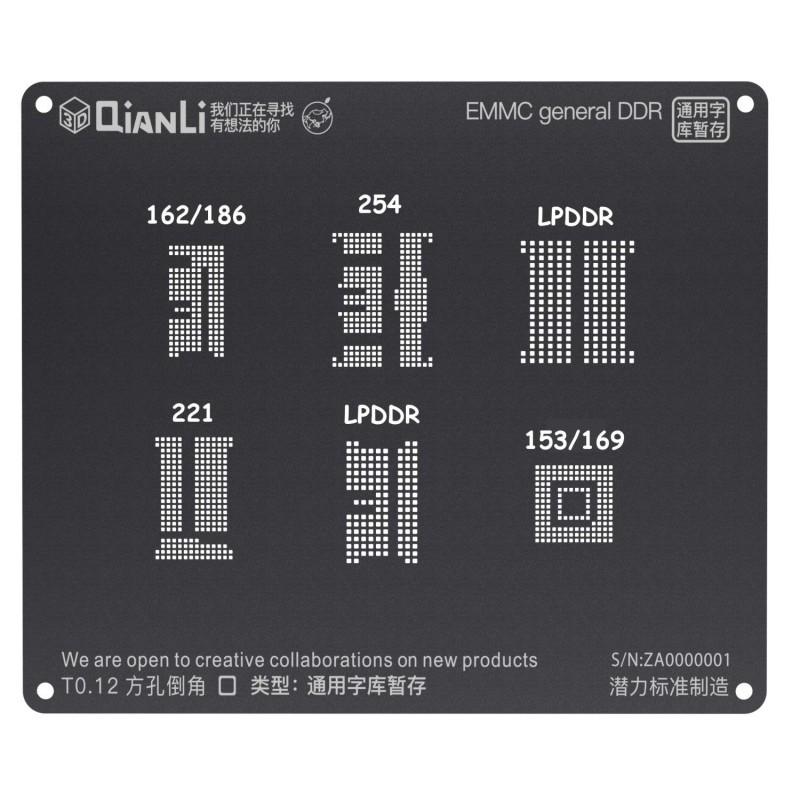 Esténcil 3D EMMC general DDR
